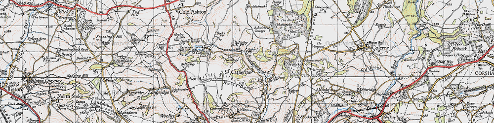 Old map of St Catherine in 1946