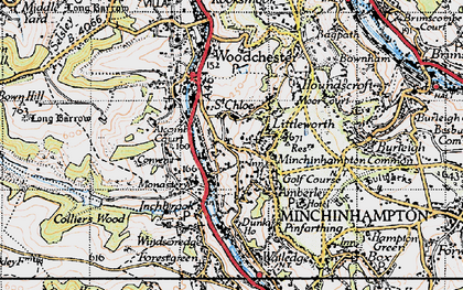 Old map of Atcombe Court in 1946