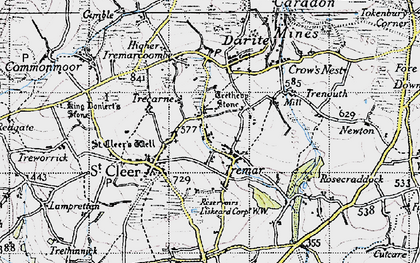 Old map of St Cleer in 1946