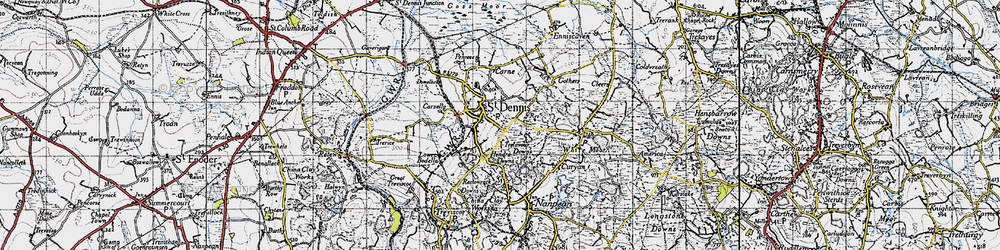 Old map of St Dennis in 1946