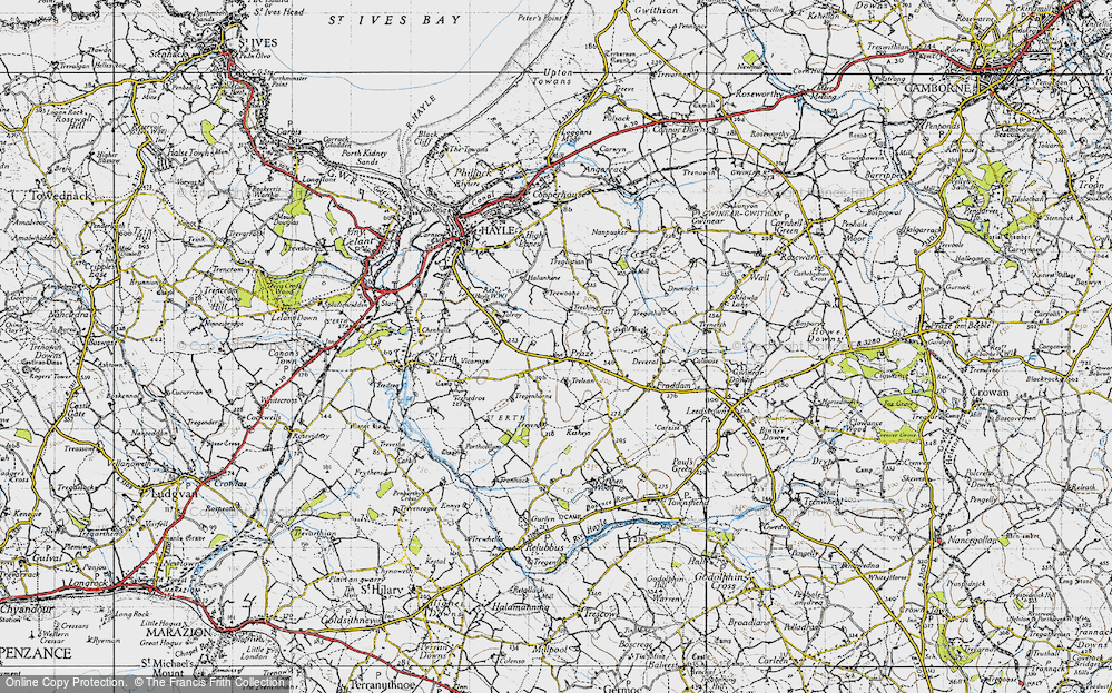 Old Map of Historic Map covering Tolroy in 1946