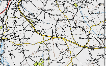 Old map of Tolroy in 1946