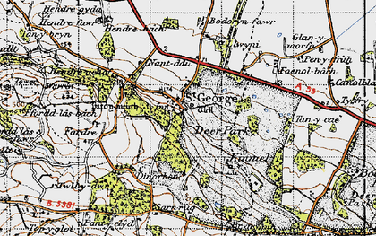 Old map of St George in 1947