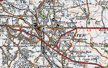 Old map of St George's in 1946