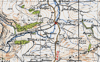Old map of Banc Gelli-las in 1947