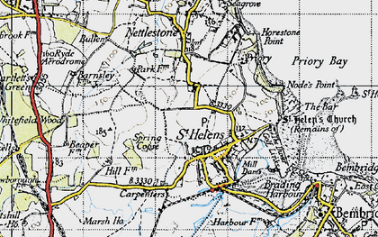 Old map of Whitefield Wood in 1945