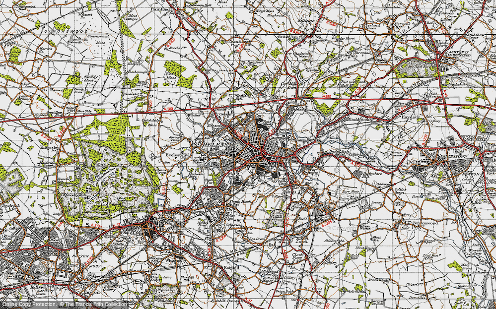 Old Map of St Helens, 1947 in 1947