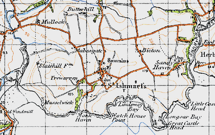 Old map of St Ishmael's in 1946
