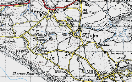 Old map of Withnoe Barton Fm in 1946