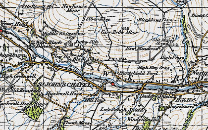 Old map of St John's Chapel in 1947