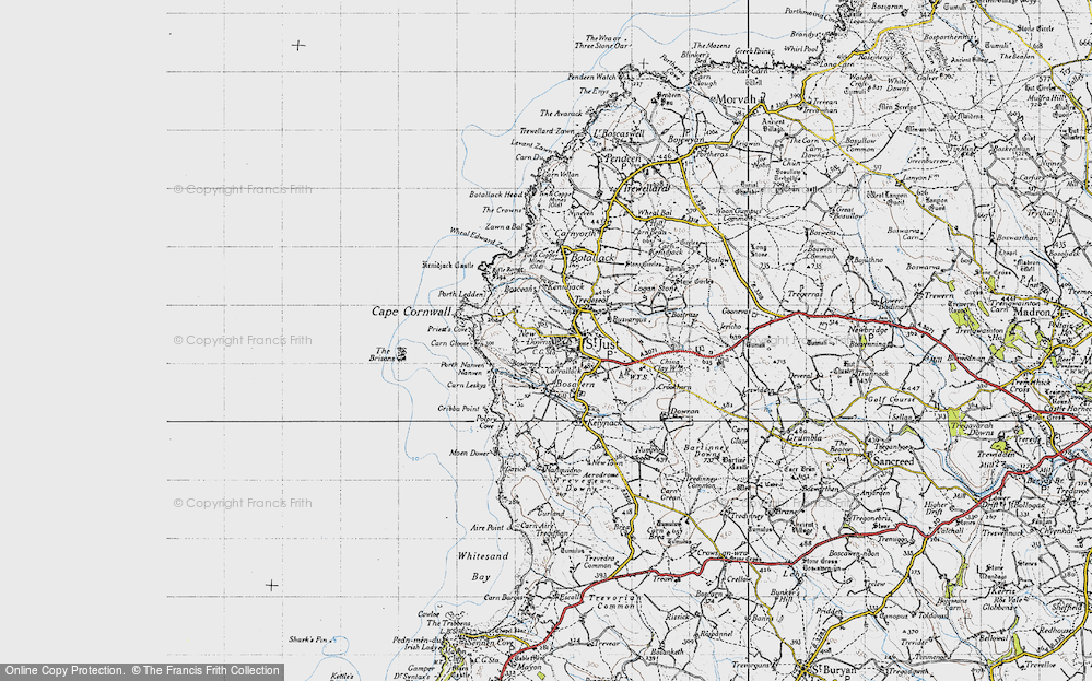 Old Map of St Just, 1946 in 1946