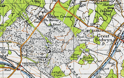 Old map of Langfield Copse in 1940