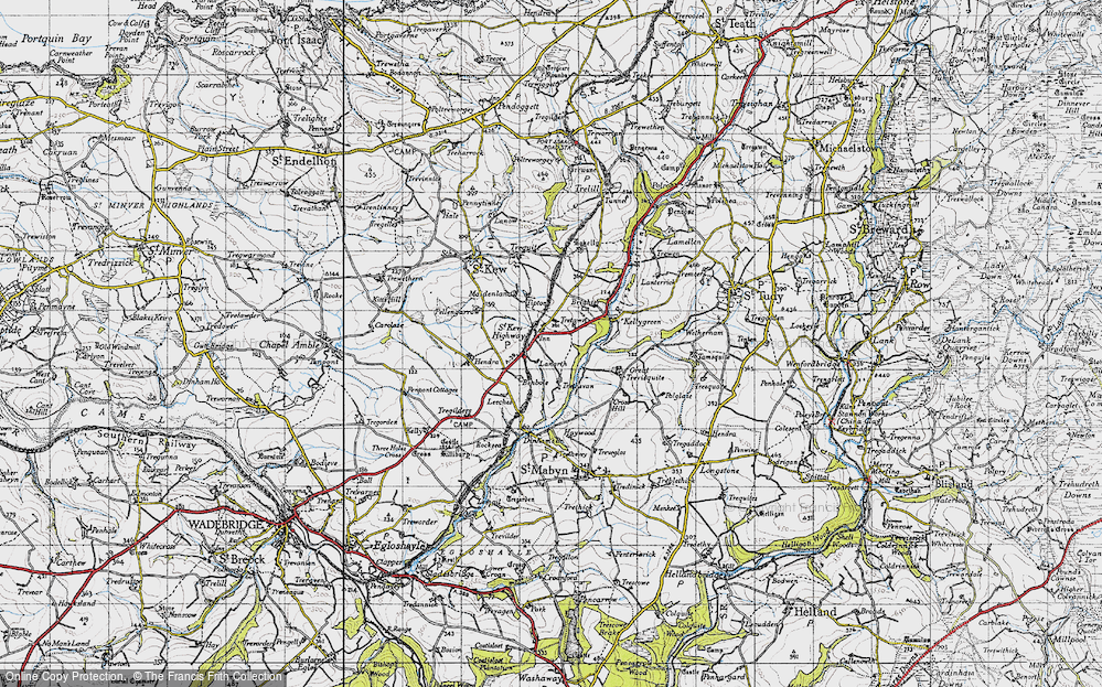 Old Map of Historic Map covering Leeches in 1946