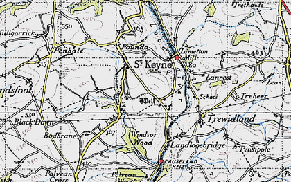 Old map of Windsor Wood in 1946