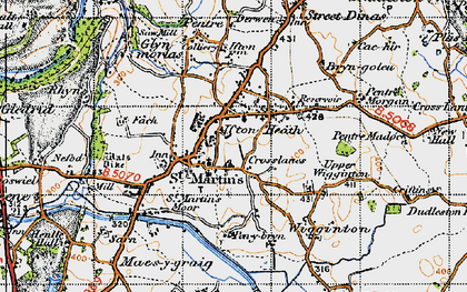 Old map of St Martins in 1947