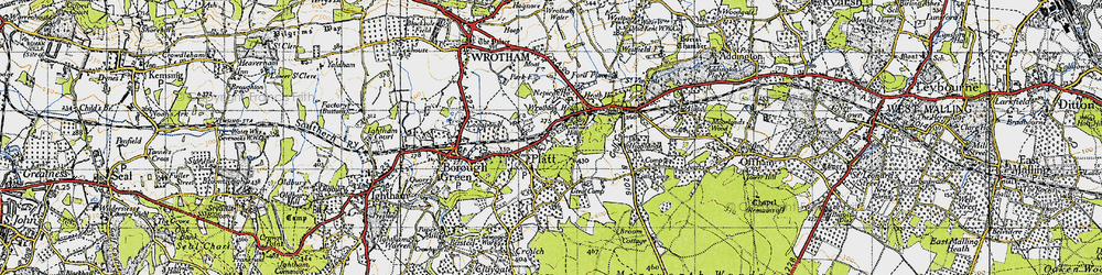 Old map of St Mary's Platt in 1946