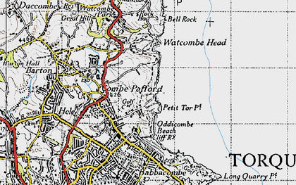 Old map of St Marychurch in 1946