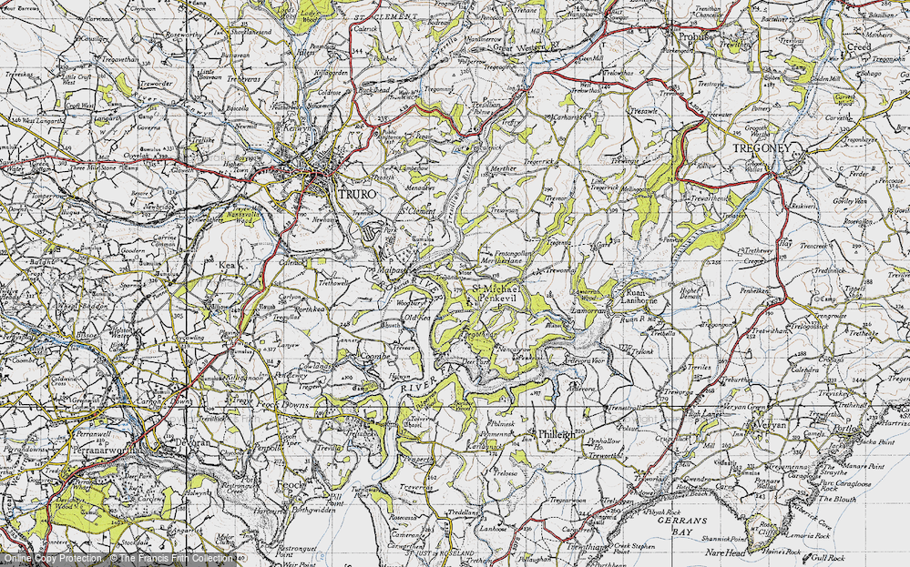 Old Map of St Michael Penkivel, 1946 in 1946