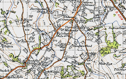 Old map of Wilden in 1947