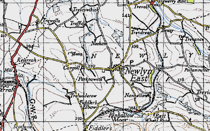 Old map of St Newlyn East in 1946