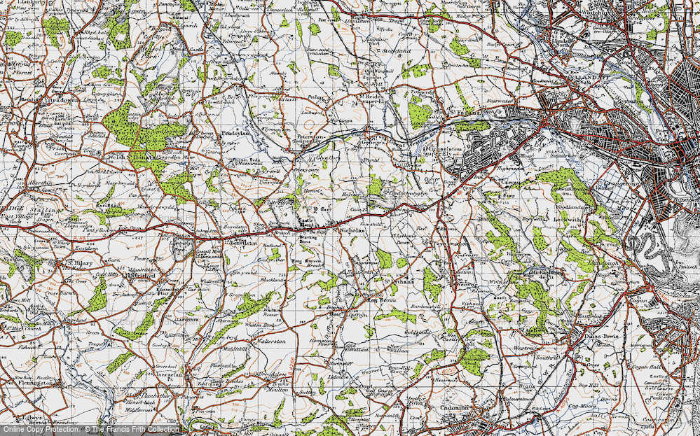 Old Map of St Nicholas, 1947 in 1947