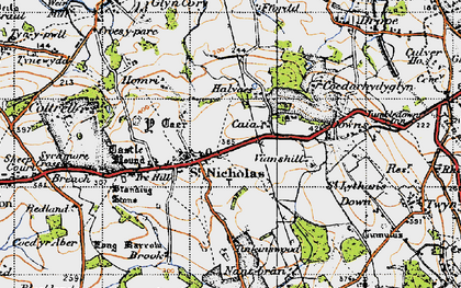 Old map of St Nicholas in 1947