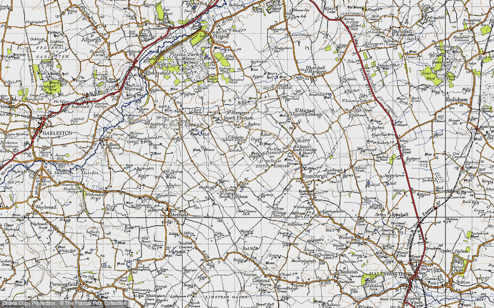 Old Map of St Nicholas South Elmham, 1946 in 1946