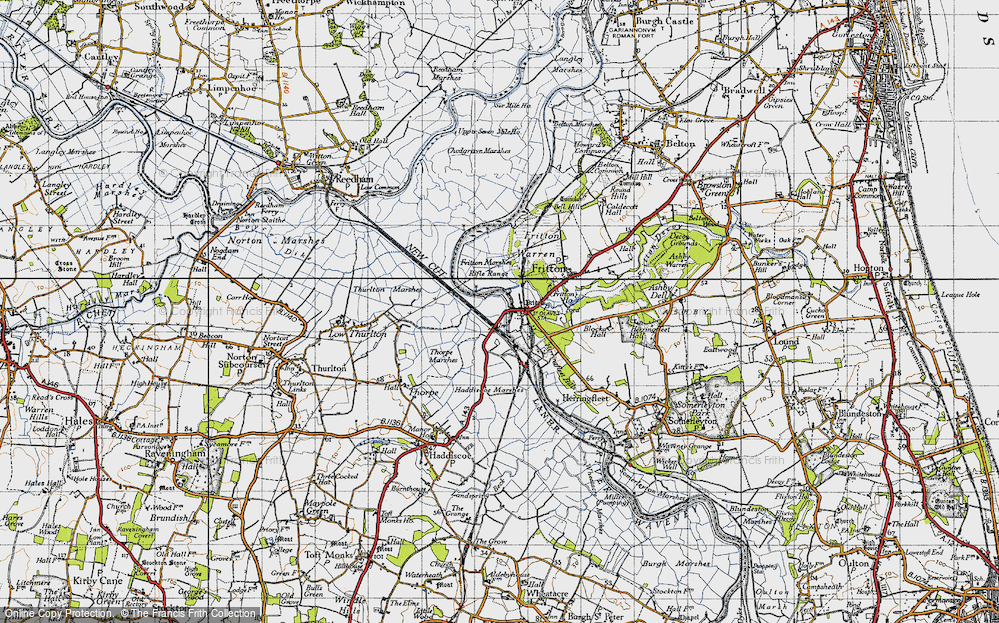 Old Map of St Olaves, 1946 in 1946