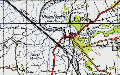 Old map of St Olaves in 1946