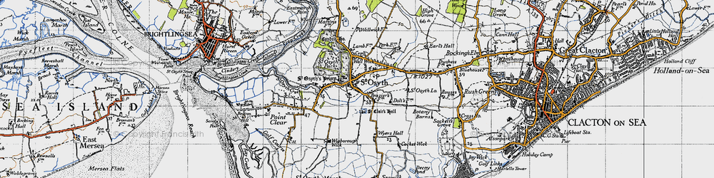 Old map of St Osyth in 1946