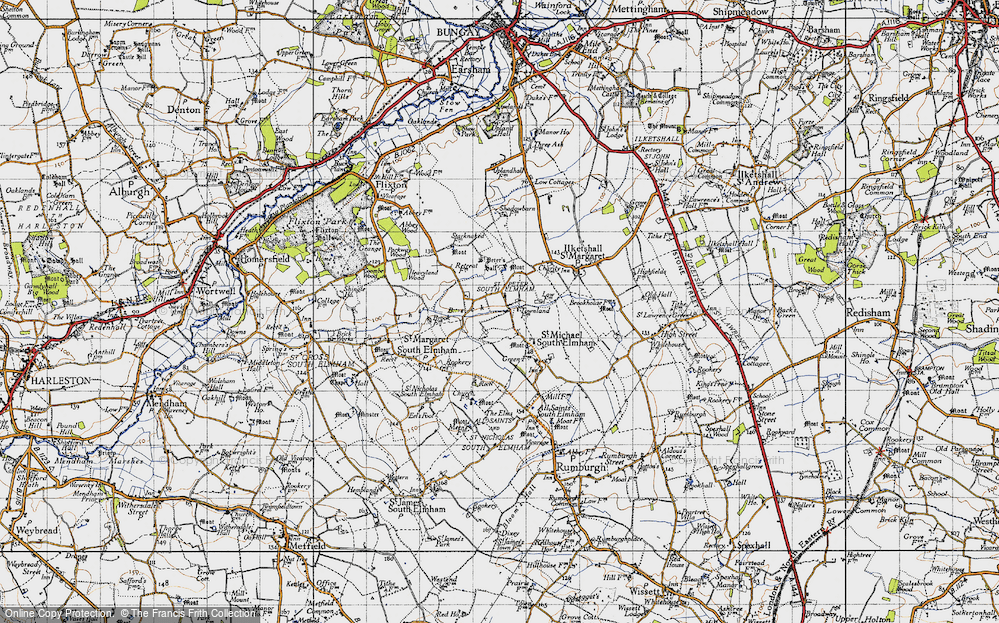 Old Map of St Peter South Elmham, 1946 in 1946