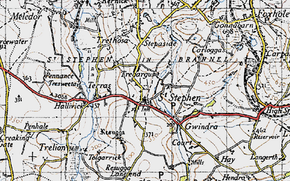 Old map of St Stephen in 1946