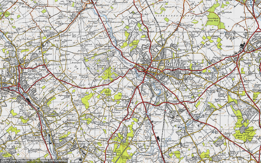 Old Map of Historic Map covering Abbey Sta in 1946