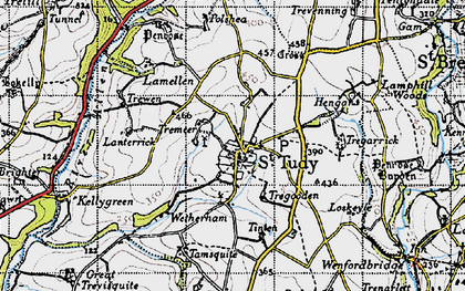 Old map of Lanterrick in 1946