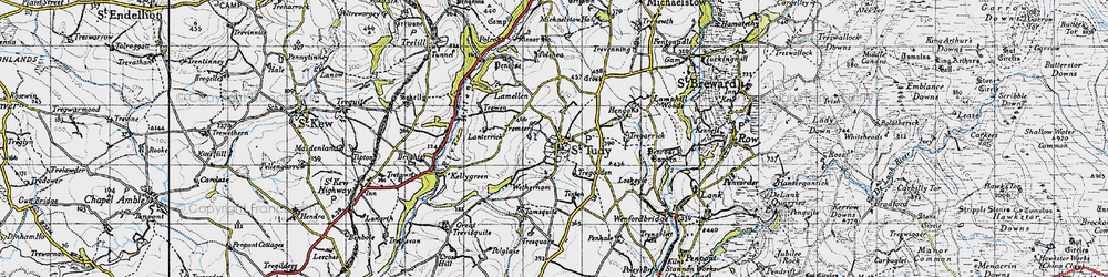 Old map of Wetherham in 1946