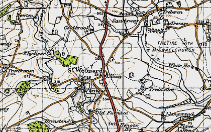 Old map of Audit's Br in 1947
