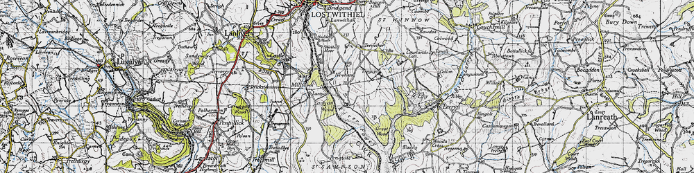 Old map of Lantyan Wood in 1946