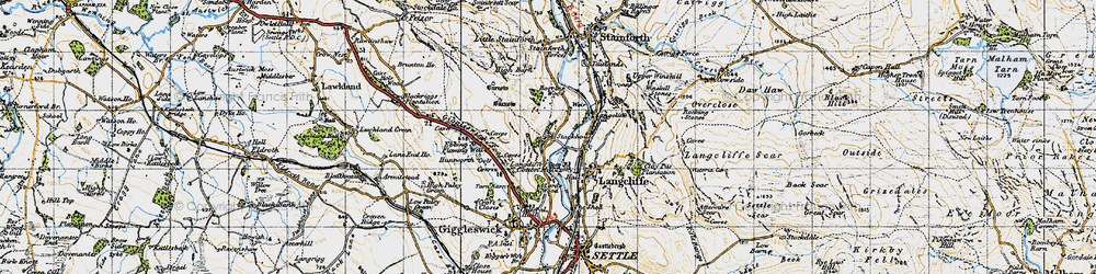 Old map of Stackhouse in 1947