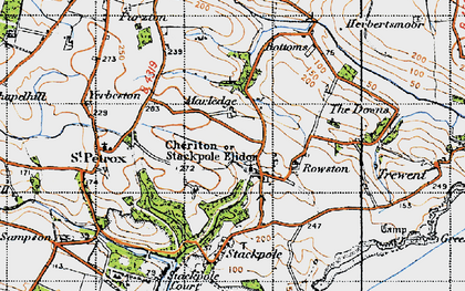 Old map of Stackpole Elidor in 1946