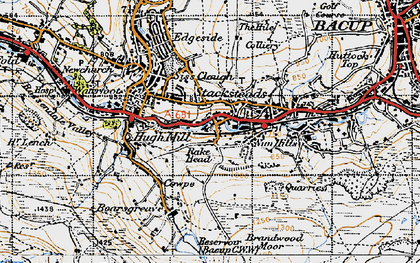 Old map of Stacksteads in 1947