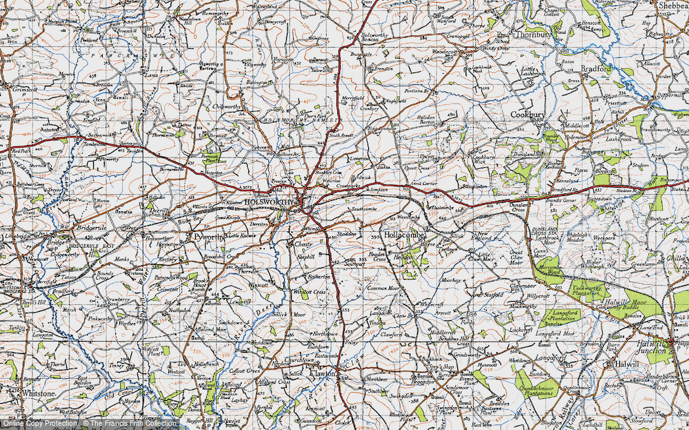 Old Map of Historic Map covering Arscott in 1946