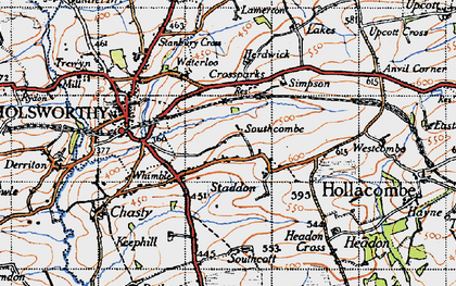Old map of Arscott in 1946