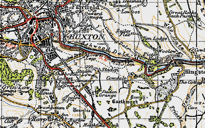 Old map of Ashwood Dale in 1947