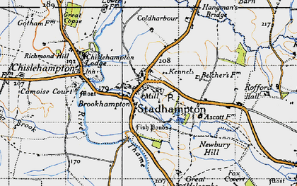 Old map of Stadhampton in 1947