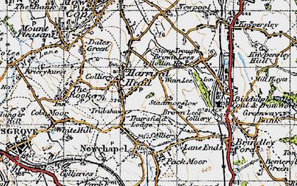 Old map of Thursfield Lodge in 1947