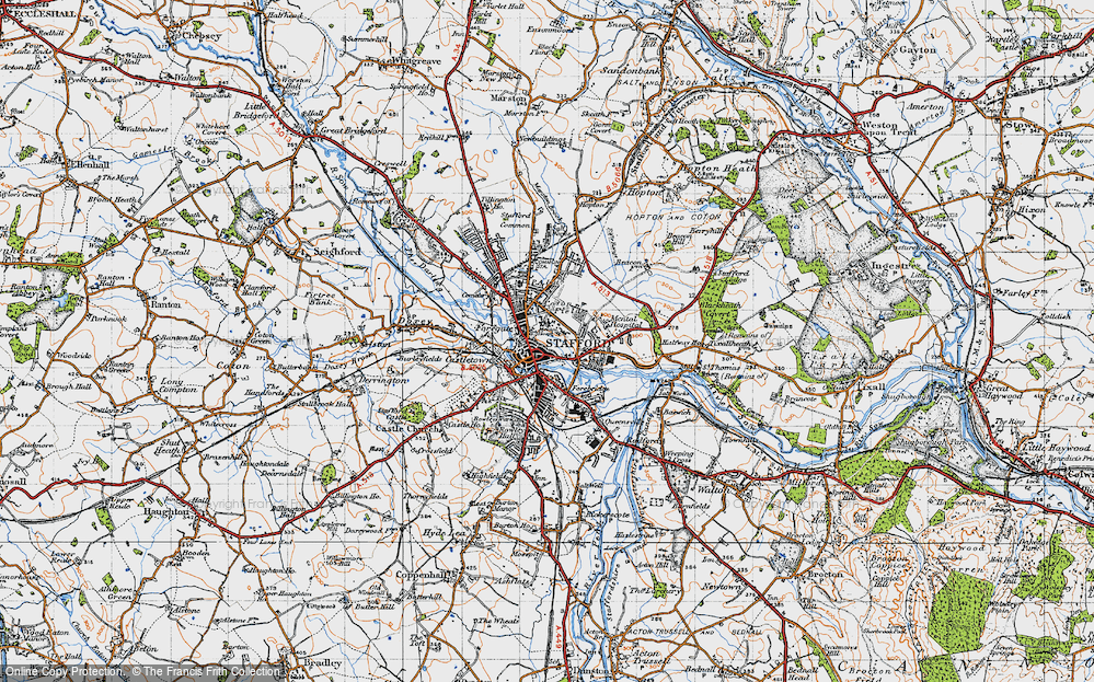 Old Map of Stafford, 1946 in 1946