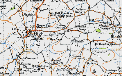 Old map of Acreland Green in 1946