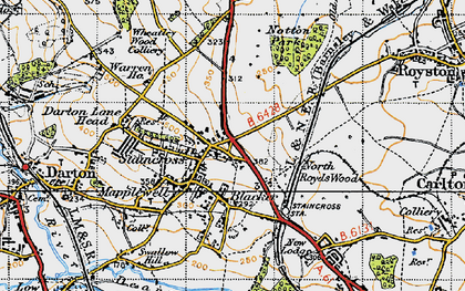 Old map of Staincross in 1947