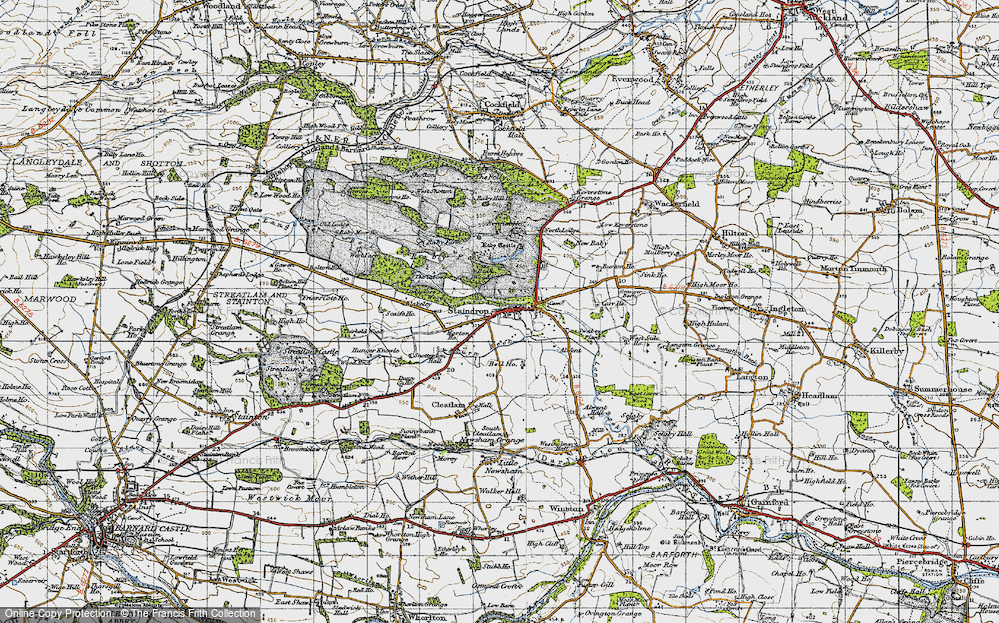 Old Map of Historic Map covering Alwent in 1947