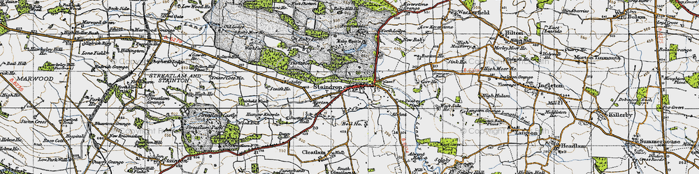 Old map of West Side Ho in 1947